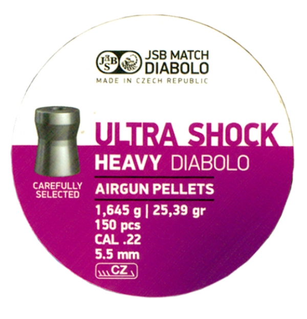 JSB Ultra Shock Heavy 5,5mm (25,39grains)