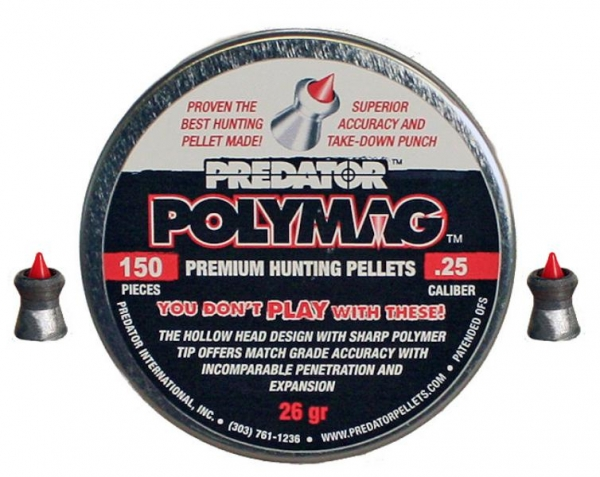 Polymag Predator 6,35mm (26grains)